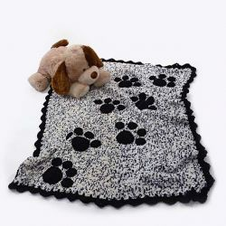 Puppy Prints Throw
