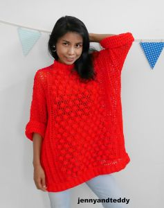 Bobble pop oversize sweater