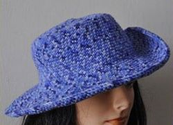 Brimmed Crocheted Hat