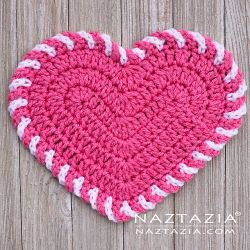 Light Heart Dishcloth