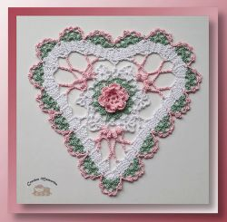 Bruges Lace Heart Doily
