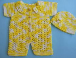 Baby Romper Sweater /Easy Crocheted Baby Jumper Sweater
