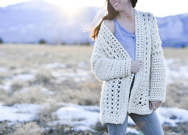 Crochet Patterns Galore Light Snow Oversized Cardigan