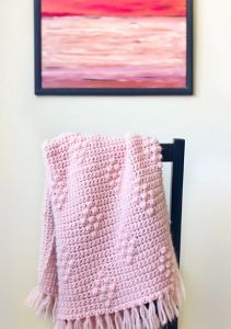 Diamond Berry Stitch Blanket