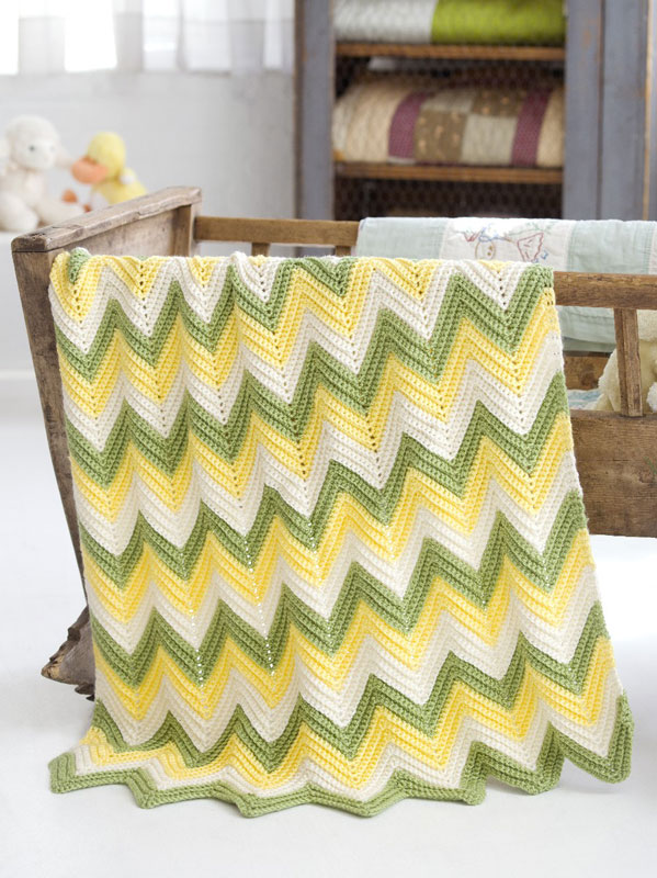 Crochet Zig Zag Baby Blanket : Crochet Patterns Galore - Zig Zag Baby Blanket