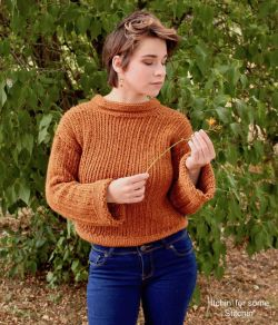 Easy  Knit-look Crochet Sweater