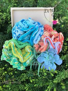 Sea Blossom Dish and Washcloth