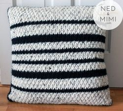 Black and White Striped Cushion