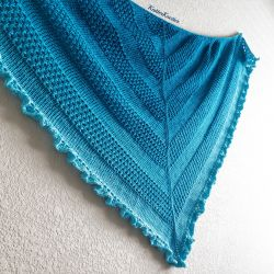 Ruffled Waters Shawl