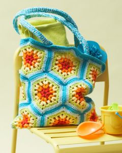 Rainbow Hexagon Beach Bag