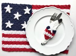 American Flag Placemat & Napkin Ring