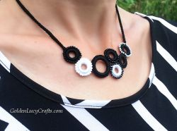 Beaded Ring Necklace