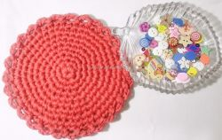 Tshirt Yarn Round Tablemat