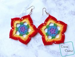 Rainbow Mini Mandala Earrings