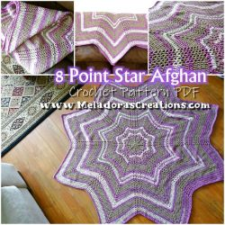8 point Star Afghan