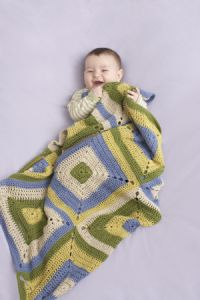 Cheerful Squares Baby Throw