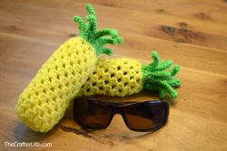 Pineapple Drawstring Sunglass Bag