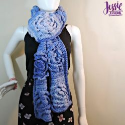 Flower Granny Square Bloom Crochet Scarf