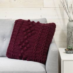 Staggered Bobble Pillow