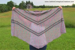 Summer Wildflowers Triangle Shawl