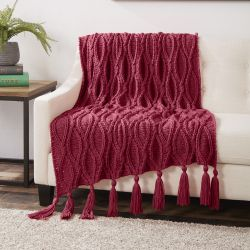 Caron Crochet Cables Blanket