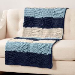 Caron Textures Stripes Blanket