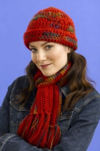 127 Print Hat and Scarf