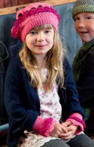 Little Girl's Beret and Wristers