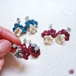 Flower Pendant Earrings
