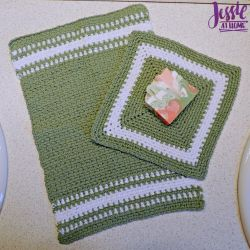 Spearmint Hand and Face Towels