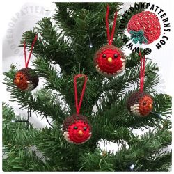 Robin Baubles Christmas Tree Decorations