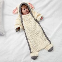 Bernat Yawn the Sheep Snuggle Sack