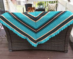 Kingfisher Shawl