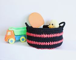 Tshirt Yarn Storage Basket