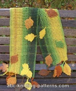 Fall Leaves Scarf