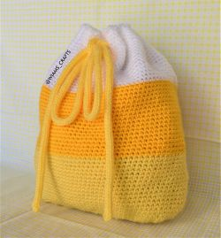 Candy Corn Drawstring Backpack