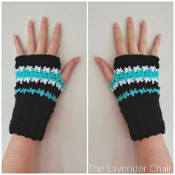 Houndstooth Fingerless Gloves
