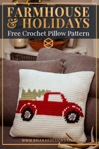 Farmhouse Truck Pillow Cover