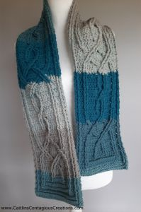 Knotted Cable Scarf