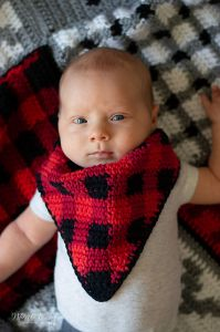 Buffalo Plaid Bandana Bib
