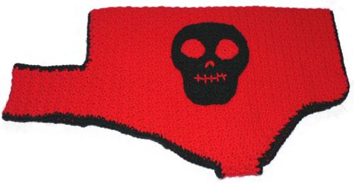 Crochet Patterns Galore Skull Motif Dog Coat