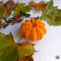 Tunisian Crochet Puffy Pumpkin