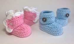 Wrapped Baby Booties