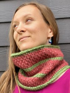 Watermelon cowl