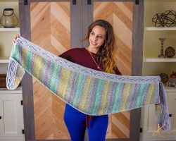 Traveling Vine Cable Crochet Shawl