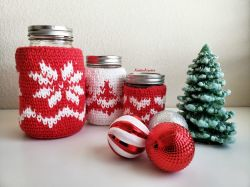 The Heart of Christmas -Mason Jar Cozies