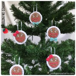Gingerbread Smilies Christmas Ornaments