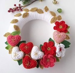 Floral Heart Holiday Wreath