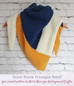 Color-Block the Cold Triangle Scarf