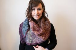 Sunset Static Shawl